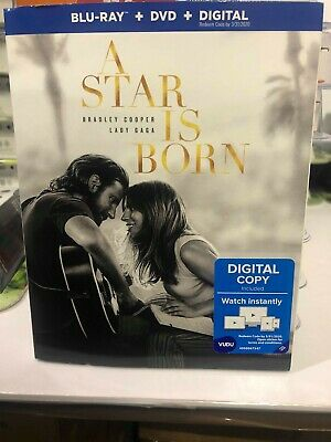A Star Is Born (Blu-ray + DVD + Digital; 2018) NEW with Slipcover  free shipping