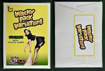 NEW Lost Wacky Packages VARIATIONS 1st SERIES Compete Set + Puzzle SEALED