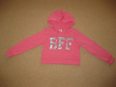 Girls Pink BFF Hooded Windcheater Top Size 8
