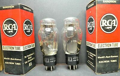 New In Box Rca 46 Matched Pair - Dual Mode Tetrode/triode 45 Dht - Same Codes