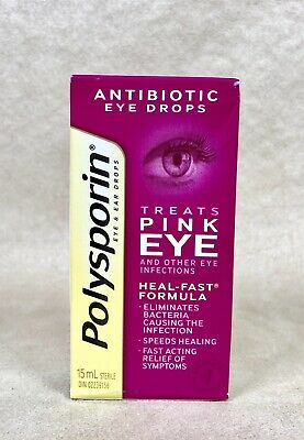 Polysporin Antibiotic Eye Drops. Treats pink eye infection. Ships from USA!