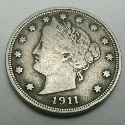 "1911 P Liberty Head ""v"" Nickel  *vf - Very Fine*  **free Shipping**"