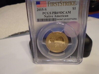2015 S First Strike  Pcgs Pr69Dcam  Mohawk Native American Dollar