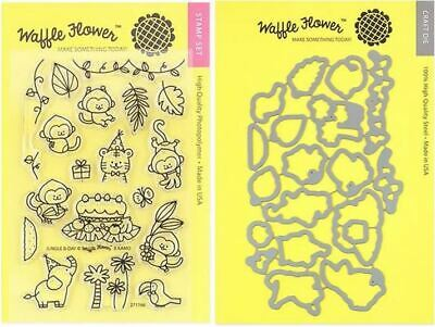 Waffle Flower Clear Stamp /& Die Combo ~ ANIMAL TAGS  Gifts Critters ~WFC237