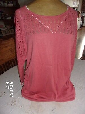 Oh Baby by Motherhood Coral Knit Pullover Maternity Sweater Size Large 12/14 NWT
