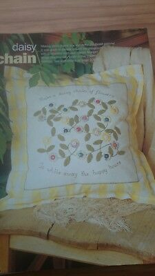 Shabby Chic Applique Embroidery Cushion Cover Kit 10 95