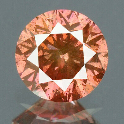 0.20 cts CERTIFIED Round Cut Vivid Purple Pink Color Loose Natural Diamond 11921