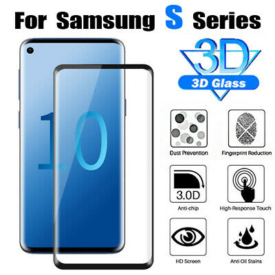For Samsung Galaxy S10 Plus S10e S10 Curved Tempred Glass Screen Protector Film
