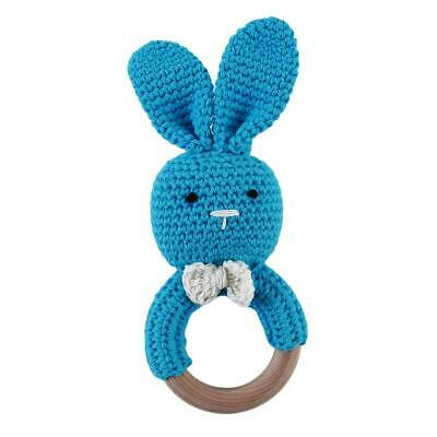 Baby Infant Toddler Teetehr Toys Bunny Teething Wooden Ring Teeth Care Gift JJ