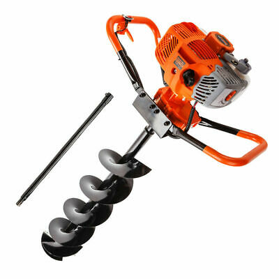 Post Hole Digger 62cc Posthole Earth Auger Fence Borer Petrol Drill Bit