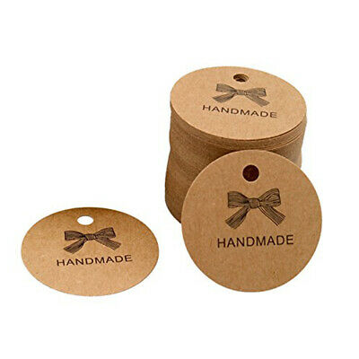 100Pcs/Bag Handmade Tag Kraft Paper Retro Listing Label Without Rope FY