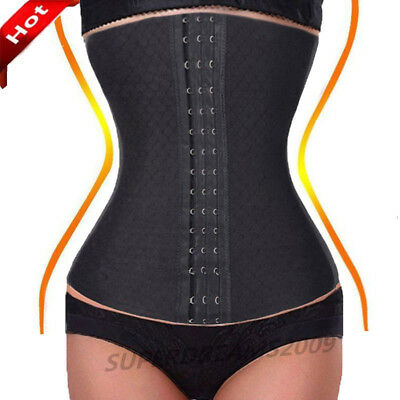 Intimates & Sleep Clothing, Shoes & Accessories Women 24 Spiral Steel Boned Waist Trainer Body Control Underbust Black Corset SD