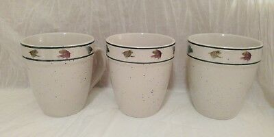 Set of 2 16oz Mugs RAINBOW TROUT by Folkcraft Scotty Z rustic cabin decor cup