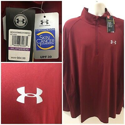 Under Armour Coolswitch Mens Cardinal Sz 2XL Thermocline 1/4 Zip Shirt $65 NWT