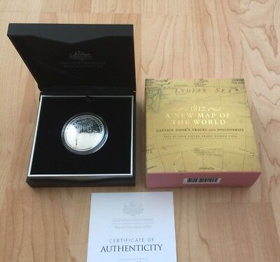 2019 Australia 1 oz Silver $5 1812 Map of the World Domed Proof Coin *Brand New*