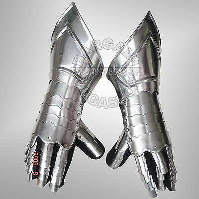 Medieval Gauntlets Mitten Gauntlet Knight Iron Gloves WHOLESALE LOT of6 Pairs q1