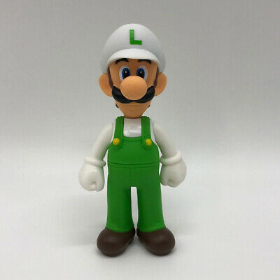 Super Mario Odyssey Fire Luigi Action Figure Toy Super Vinyl Plastic Doll 5.5""