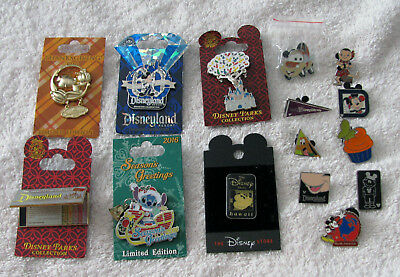 15 Disney Assorted Different Lapel Pins Lot Collection