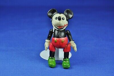Mickey Mouse Gliederpuppe Zelluloid / Celluloid Jointed Doll, 10 cm, ca. 1930er