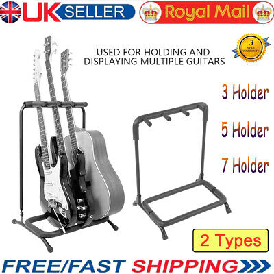 3/5/7 Way Multi Guitar Display Rack Stand Storager Electric Acoustic Bass Holder