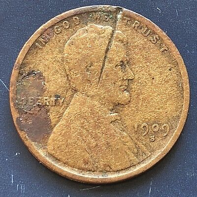 1909 S Wheat Penny Lincoln Cent 1c nice coin RARE Key Date San Francisco #10008
