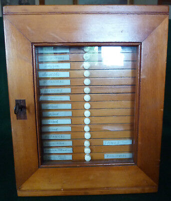 Microscope Slides Large Collection Antique Slides In Fitted Case