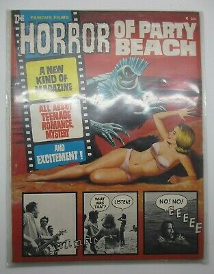 Famous Films #1 Horror Of Party Beach Warren Comic Magazine Good Condition 1964