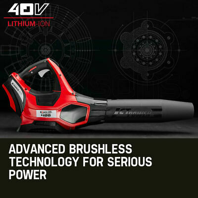 Cordless Electric 40V Leaf Blower - Lithium Powered Garden Power Tool