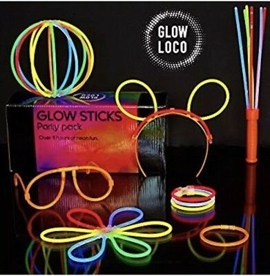 Glow Sticks Party Pack by Glow - Premium UK Brand - Perfect for festivals Etc..