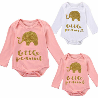 Infant Toddler Baby Kids Girls Long Sleeve Romper Jumpsuit Playsuit Clothes Cute