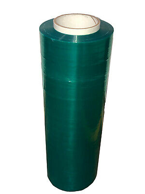 "Tinted Emerald Green Pallet Stretch Film 18"" x 1500' 80 Ga Shrink Wrap 12 Rolls"