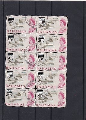 Bahamas USED Stamps Block With jet plane + queen ref R 16343
