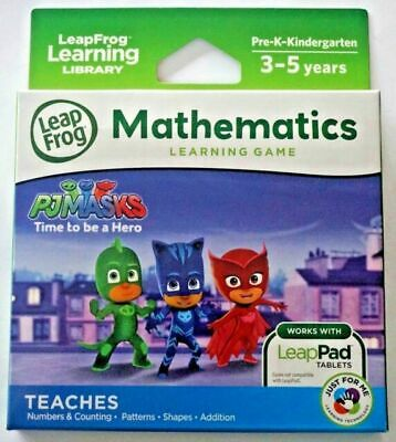 NEW LeapFrog PJ Masks Time To Be A Hero Maths Learning Game for LeapPad Tablets
