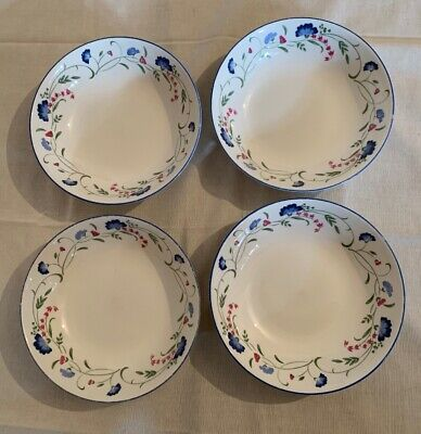 Royal Doulton China Expressions Windermere Cereal /soup Bowls X 4