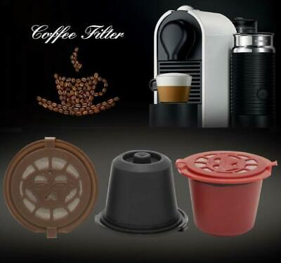 Nescafe Dolce Gusto Machine Refillable Reusable Coffee Capsule Cups Brown Black
