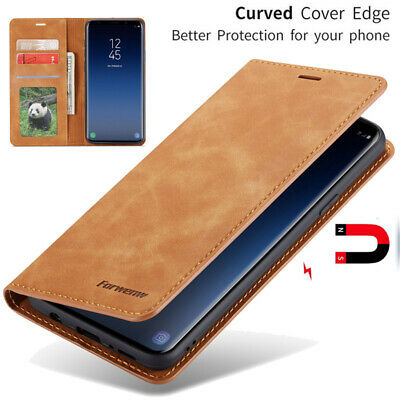 For Samsung Galaxy S10 / S10 Plus Magnetic Flip Leather Wallet Card Case Cover