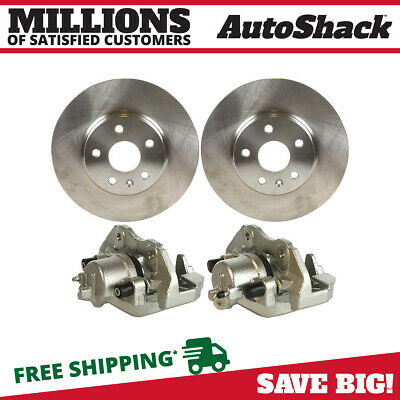 Front Brake Rotors and Calipers for 2005 2006 2007 Ford Focus