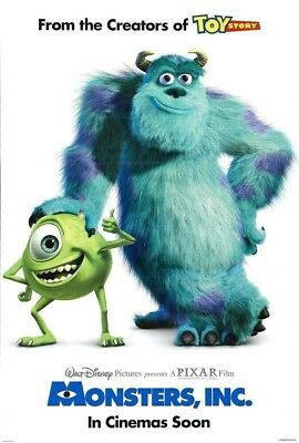 MONSTERS INC. MOVIE POSTER 2 Sided ORIGINAL INTL 27x40 BILLY CRYSTAL