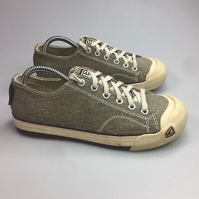 268bb66a710 KEEN WOMENS CORONADO Brown canvas Shoes Sneakers Size 8/38.5 ...
