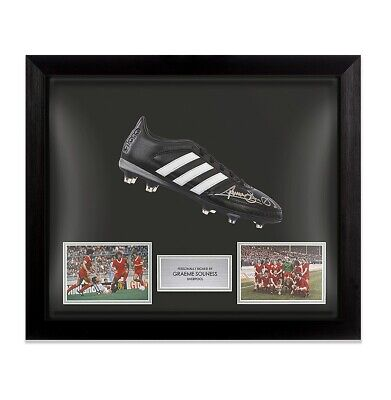 Framed Graeme Souness Signed Football Boot Adidas - Liverpool Autograph