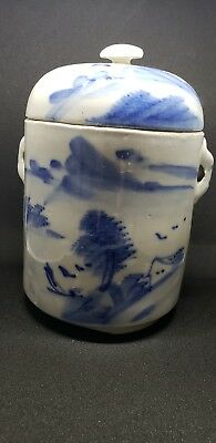 C. 19th Century Antique Chinese Blue White Tea Jar
