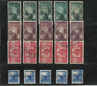 Italy Stamps - 1945 Democratica. The Hig Values. 20 Used Stamps.