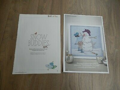 Belle and Boo Snow Buddies Cross Stitch Chart