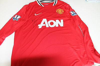 Man United - Rio Ferdinand Hand Signed Jersey Unframed + Photo Proof & C.o.a