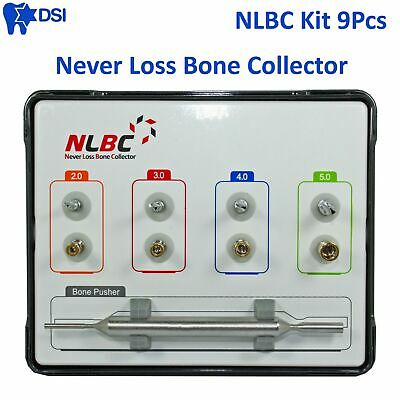 DSI NLBC Dental Implant Surgical Bone Graft Harvest Collector Augmentation 9Pcs