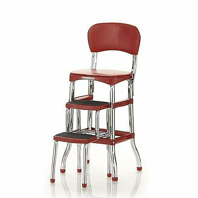 Fantastic Cosco 11120Red1E Retro Counter Chair Step Stool Red Ncnpc Chair Design For Home Ncnpcorg