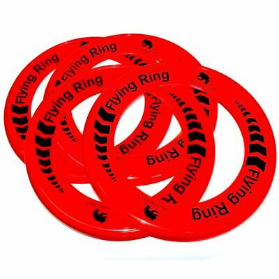 Pack of 24 RED Flying Rings - Fun Outdoor Summer Toys - Game Frisbee Type Toys