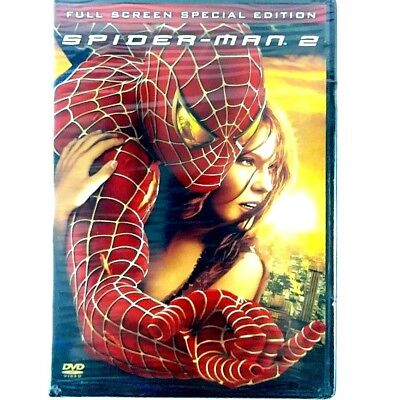 Spider Man 2 DVD Kirsten Dunst Tobey Maguire 2 Disc Special Edition Full Screen