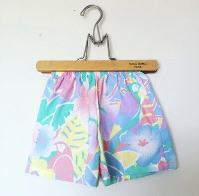 Vintage 80's Tropical Pastel Shorts Childrens 4t 5
