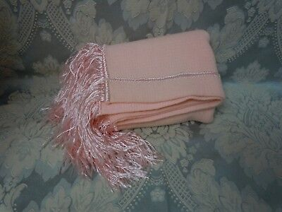 Mid Century Blanket Pure silk Fringe for Doll Carriage or Decor
